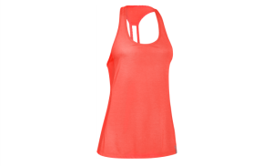 UA Fly By Stretch Mesh Tank_After Burn (front)