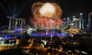 Fireworks view 1 from Marina Mandarin Singapore_room