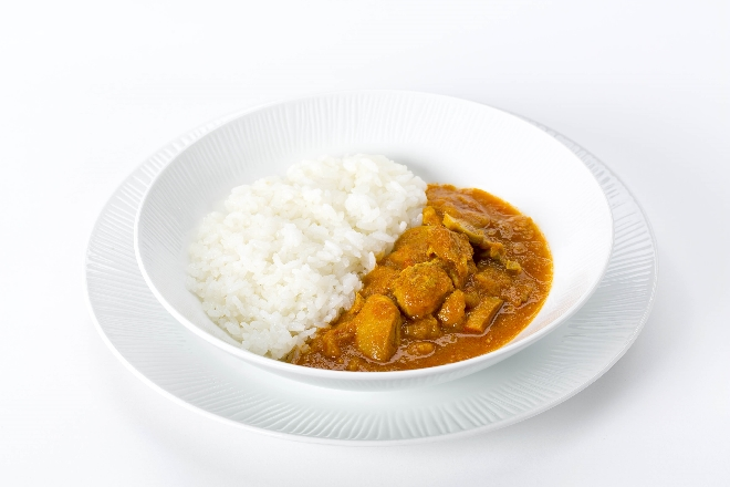 Halal-certified Japanese style chicken curry served on ANA flights