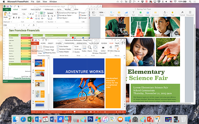 how to work side by side on mac