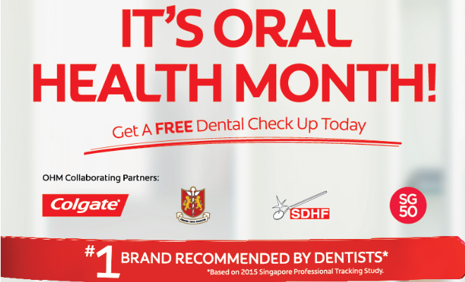 For a list of participating dental clinics offering free dental check-ups, visit here.