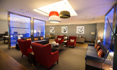 SINGAPORE: New British Airways lounge at Singapore Changi Airport on 23 August 2015