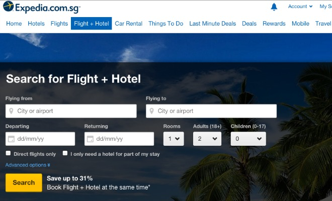 expedia offers greater savings with flight and hotel package