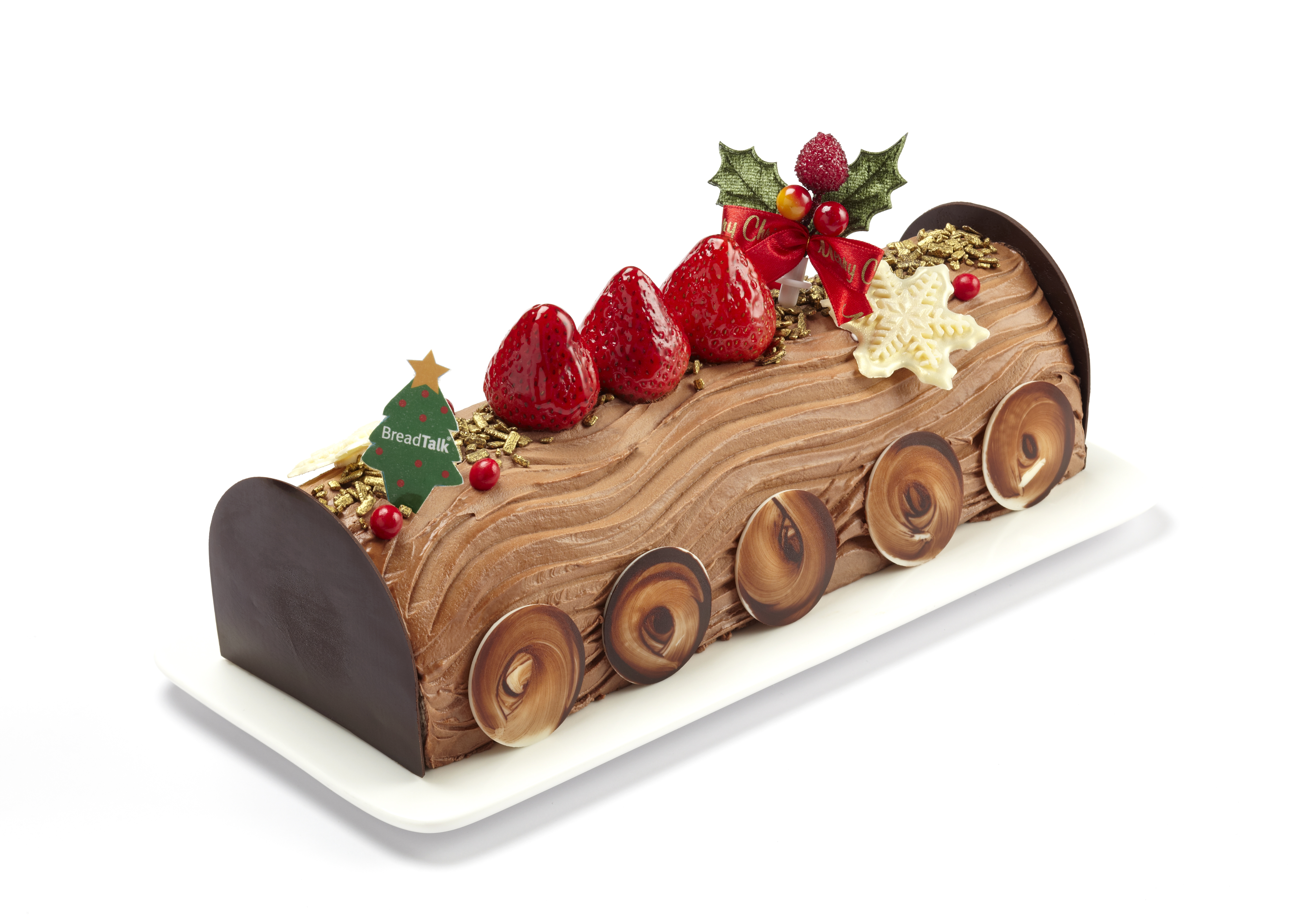 How to make a christmas yule log decoration - Breadtalk