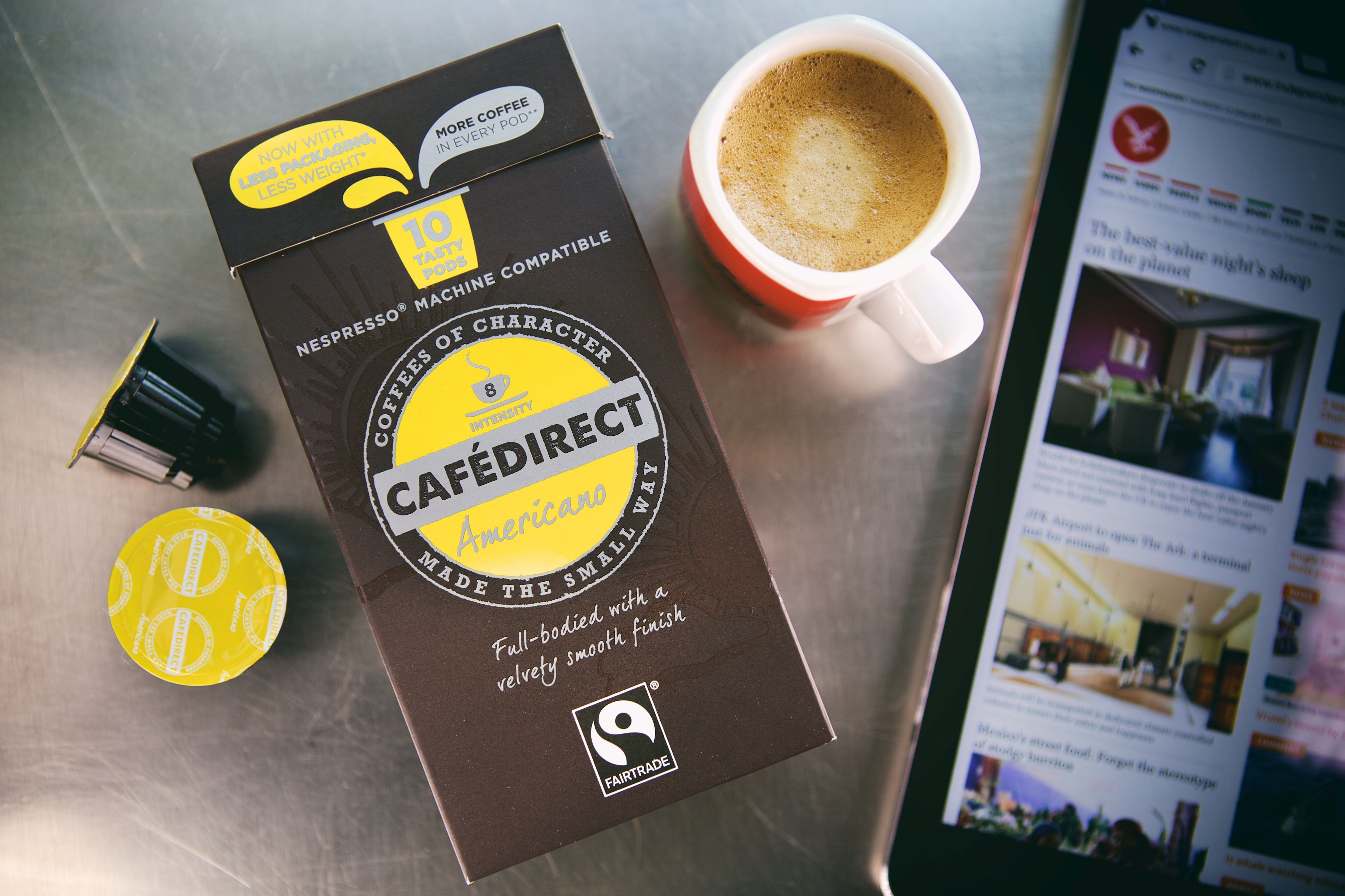 Cafedirect Introduces New Americano Coffee Capsules