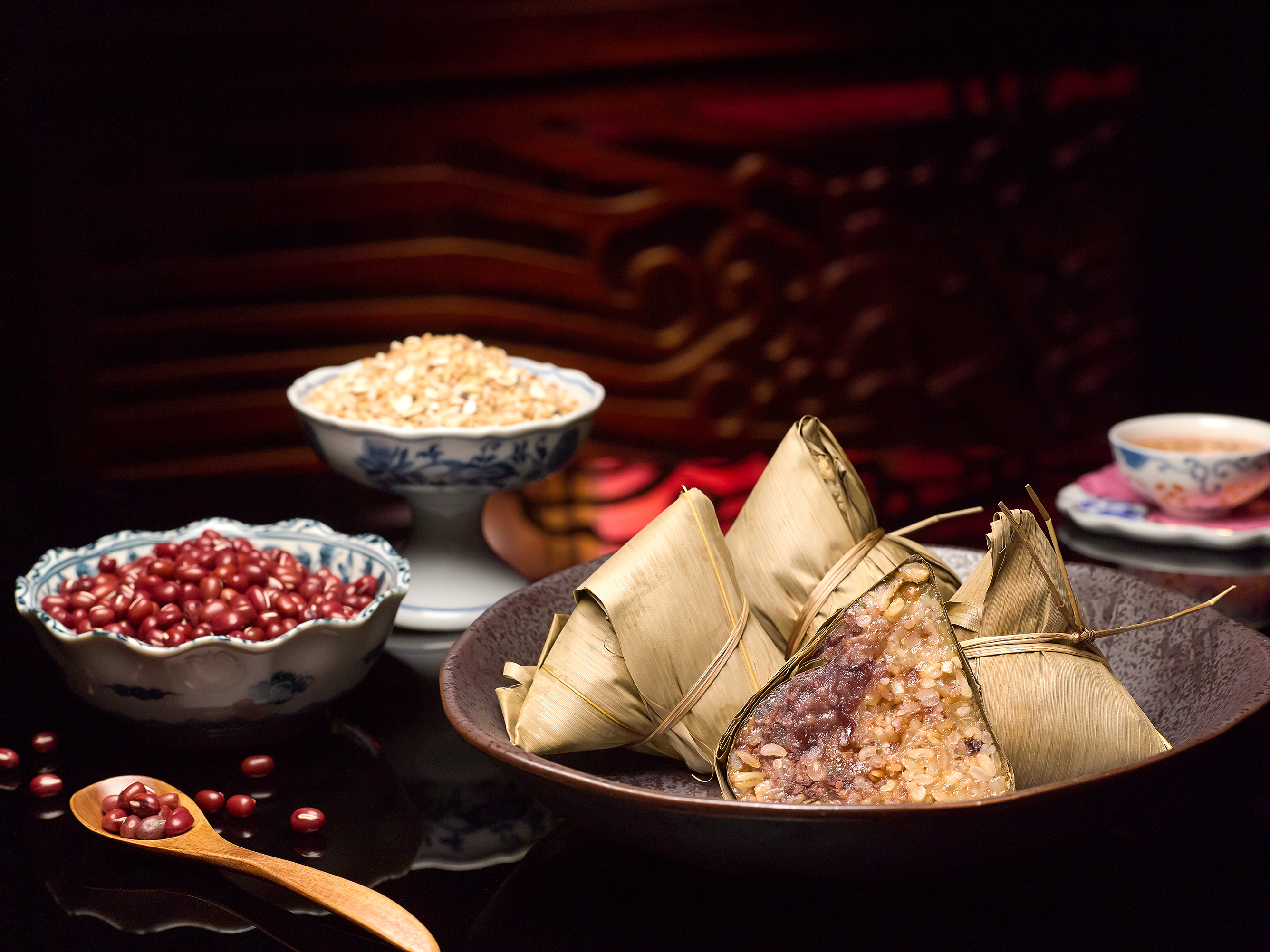 For the health-conscious, the Fragrant Red Bean Dumpling with Multi ...