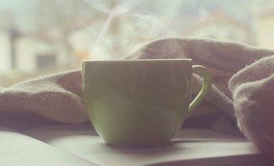 steaming hot drink