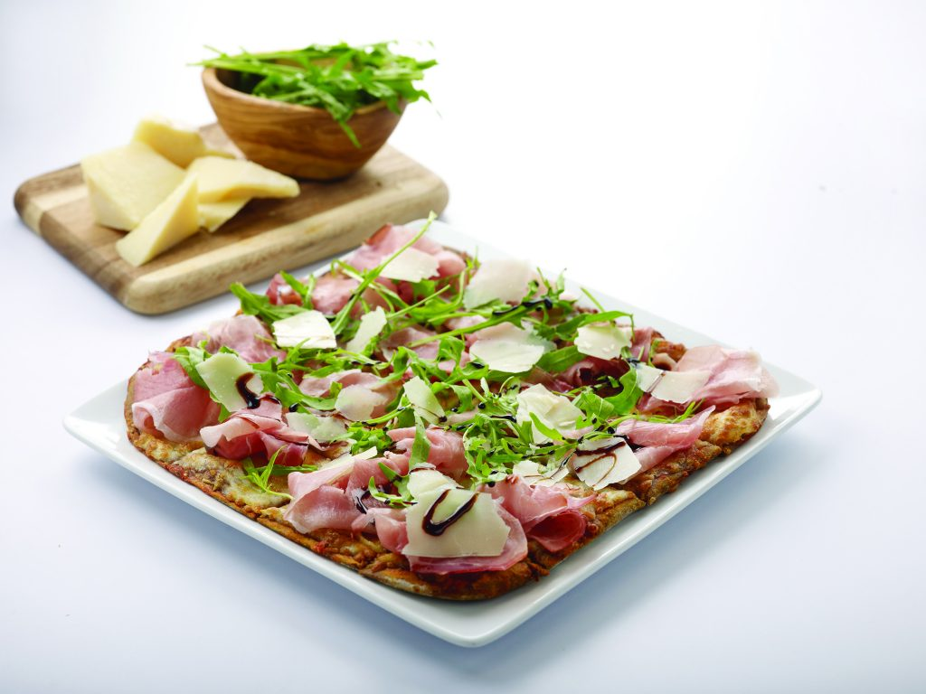 Fladen with black forest ham