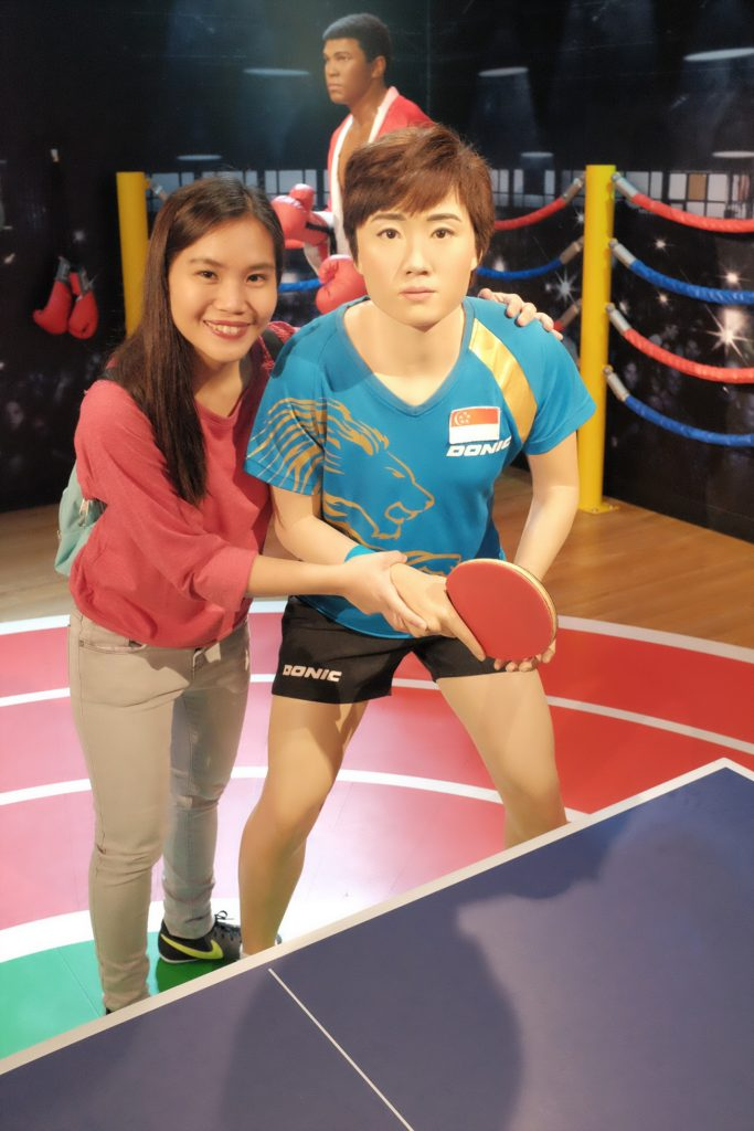 Madame Tussauds Singapore - Feng Tianwei