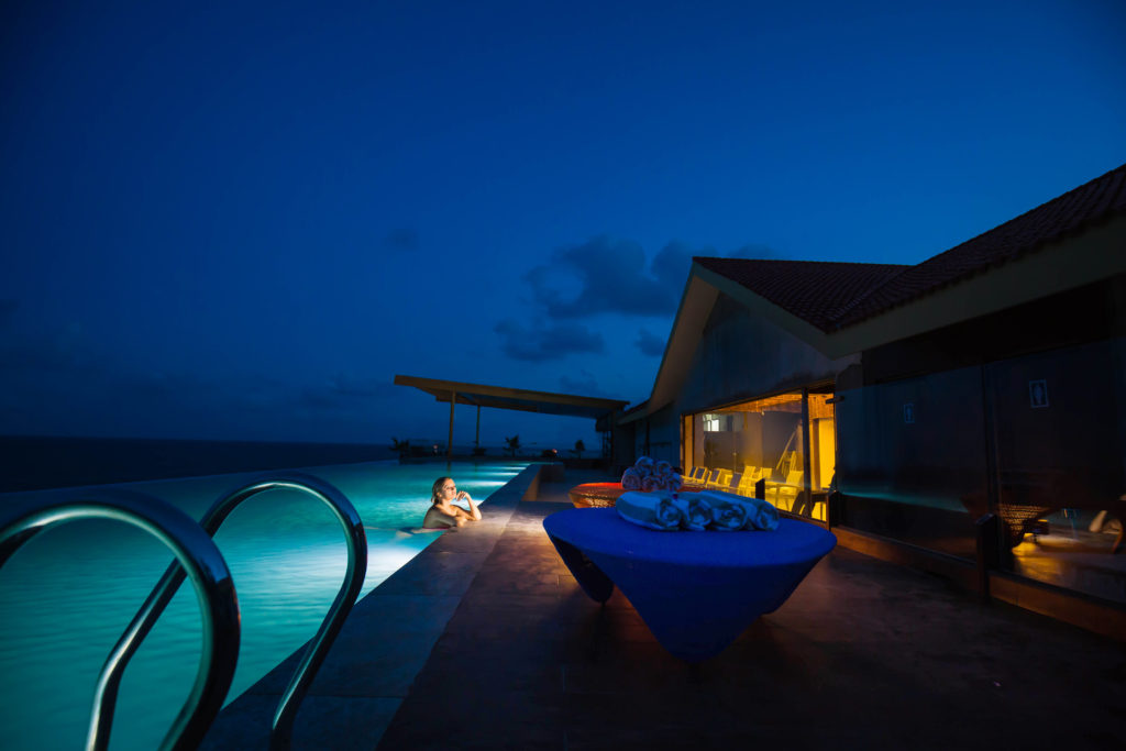 Rooftop Infinity Pool at Varun Beach Bheemili Resort
