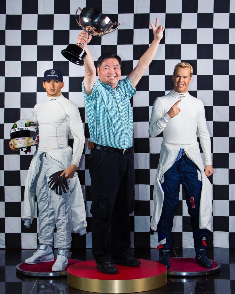 [Photo] Madame Tussadus Singapore - Singapore Grand Prix  F1 Podium