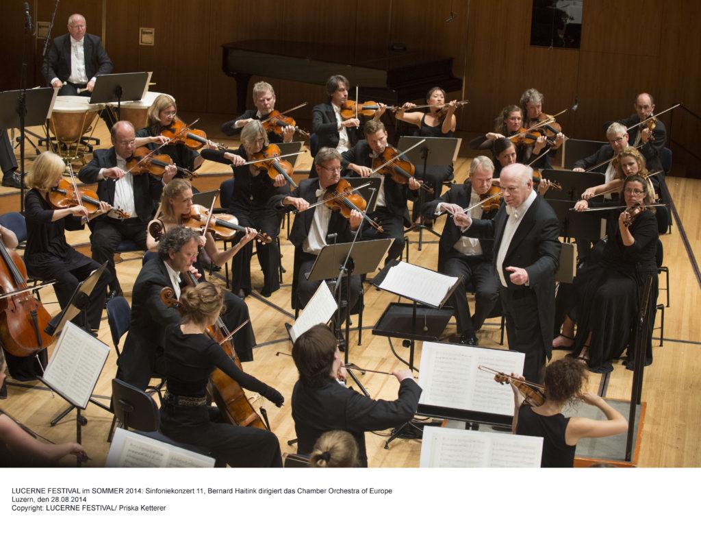LUCERNE FESTIVAL im SOMMER 2014: Sinfoniekonzert 11, Bernard Haitink dirigiert das Chamber Orchestra of Europe Luzern, den 28.08.2014 Copyright: LUCERNE FESTIVAL/ Priska Ketterer
