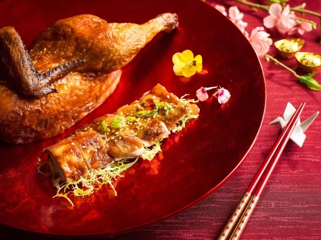 Duet Style Roasted & Szechuan 'Bon Bon' Chicken