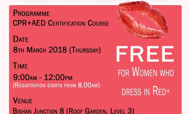 Complimentary CPR and AED certification course for women